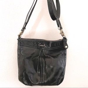Coach Ashley black python hobo